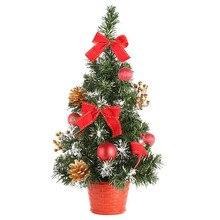 2019 new year Mini Christmas Tree Ornament Desk Table Christmas Tree 40cm Desk Decoration Gift for Home Xmas Trees #3o26
