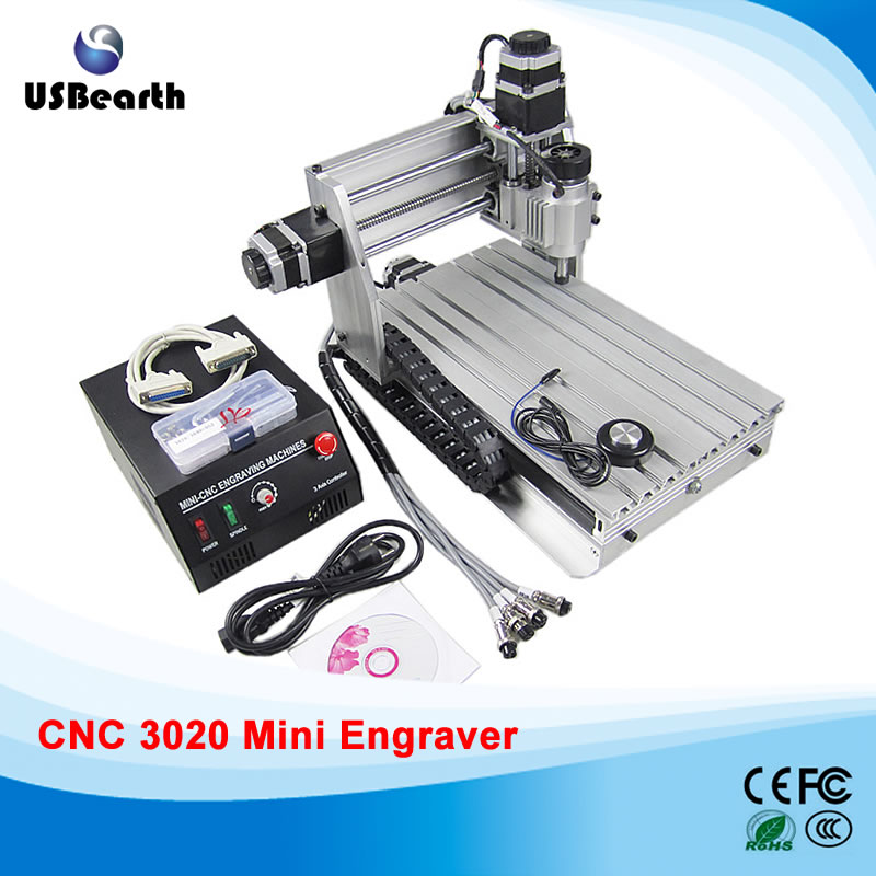 Russia tax free Newest CNC 3020Z-DQ Router Engraver/Engraving Drilling and Milling Machine free tax
