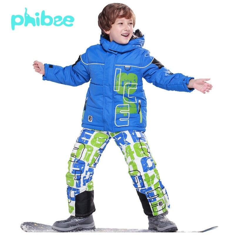 b9f28eff3 PHIBEE Winter Ski Snow Suit Jacket Outerwear Boys Warm Skiing ...