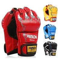Men Wolon Mma Gloves Leather Kick Boxing Gloves Adult For Sale Half-Finger Sandbag Fight Mitt Boxer Gloves Extension