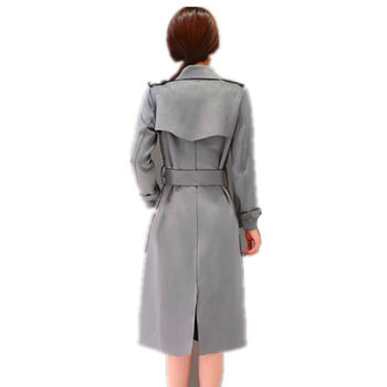 Wmwmnu Women New Arrival Real Full Fashion 3d Belt Coat 2017 New Trench For The Popular Han Edition Long High Quality Deerskin 2