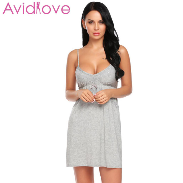 6594f38d5 Avidlove New Night Dress Women Nighty Sleepwear Sexy Lingerie Babydoll  Chemise Nightwear Lace Summer Sexy lenceria femenina