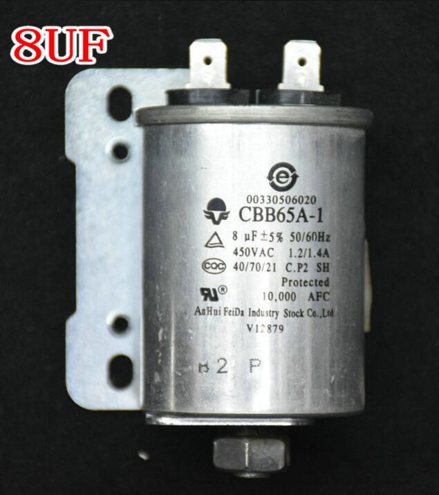 washing machine parts aluminum housing with rack 8 uf with screw washing machine parts aluminum housing capacitor 5 uf