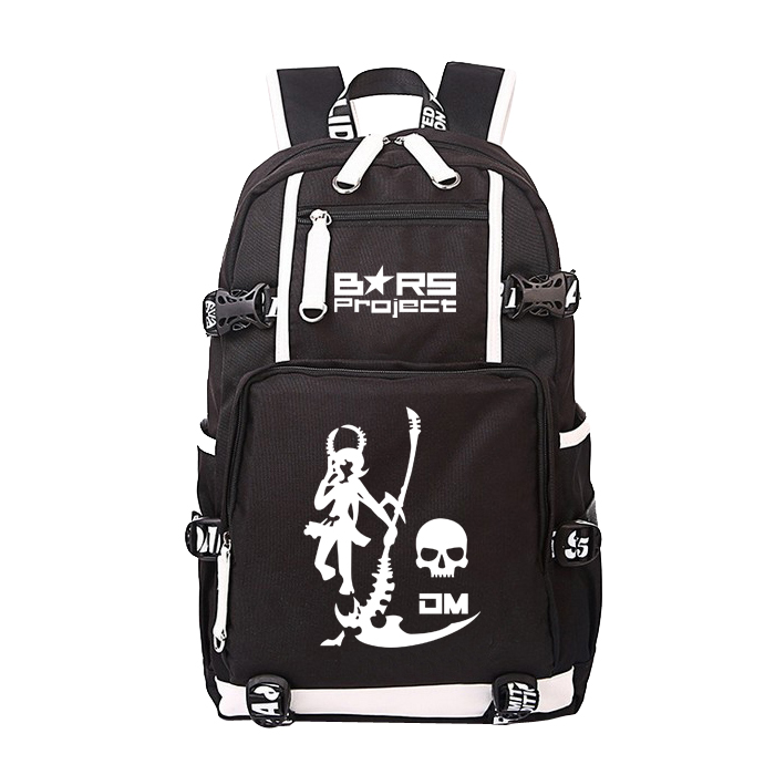 ФОТО Anime BLACK ROCK SHOOTER Cosplay Anime Anime backpack BRS student canvas bag computer bag casual male and female