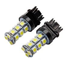 2 шт. 3157 светодиодный T25 P27/7 W автомобильные лампы 18 SMD 5050 задние фары супер 6000K белый светодиодный автомобильные лампы стоп-сигнал задний светильник
