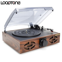 LoopTone 33 45 78 RPM Belt Driven Phono Player For Vinyl LP Record 2 Built In
