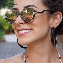 Bellcaca Cat Eye Sunglasses Women Fashion Brand Designer Lady Semi-Rimless Sun Glasses For Female UV400 Oculos de sol BC408 fashion women cat eye half frame sunglasses brand designer goggles semi rimless sun glasses driving eyewear oculos de sol uv400