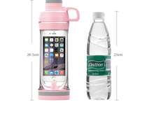 Sporty Drinking water bottle with iPhone 6 and 6s storage