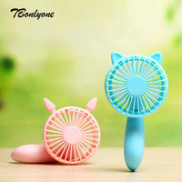 Tbonlyone 1200Mah 2 Speed Noiseless Desktop Small Neck Rechargeable Cooling Usb Portable Electric Handheld Mini Fan
