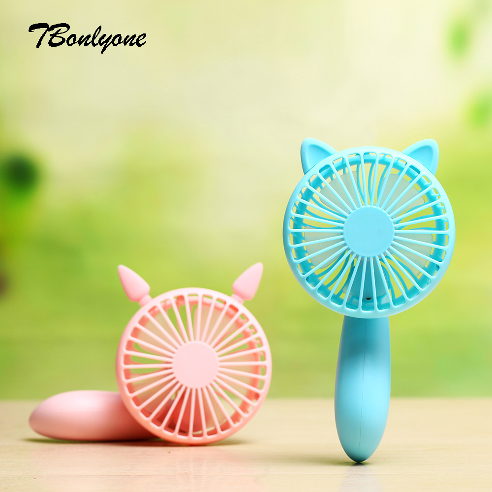 Tbonlyone 1200Mah 2 Speed Noiseless Desktop Small Neck Rechargeable Cooling Usb Portable Electric Handheld Mini Fan купить