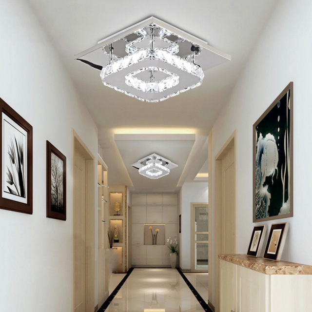 12W Platz LED Decke Licht Kristall Lustre Moderne Lichter Wohnzimmer Led  Lampe Indoor Hause Schlafzimmer Bad Studie zimmer