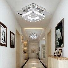 12W Square LED Ceiling Light Crystal Lustre Modern Lights  Living Room Led Lamp Indoor Home Bedroom Bathroom Study