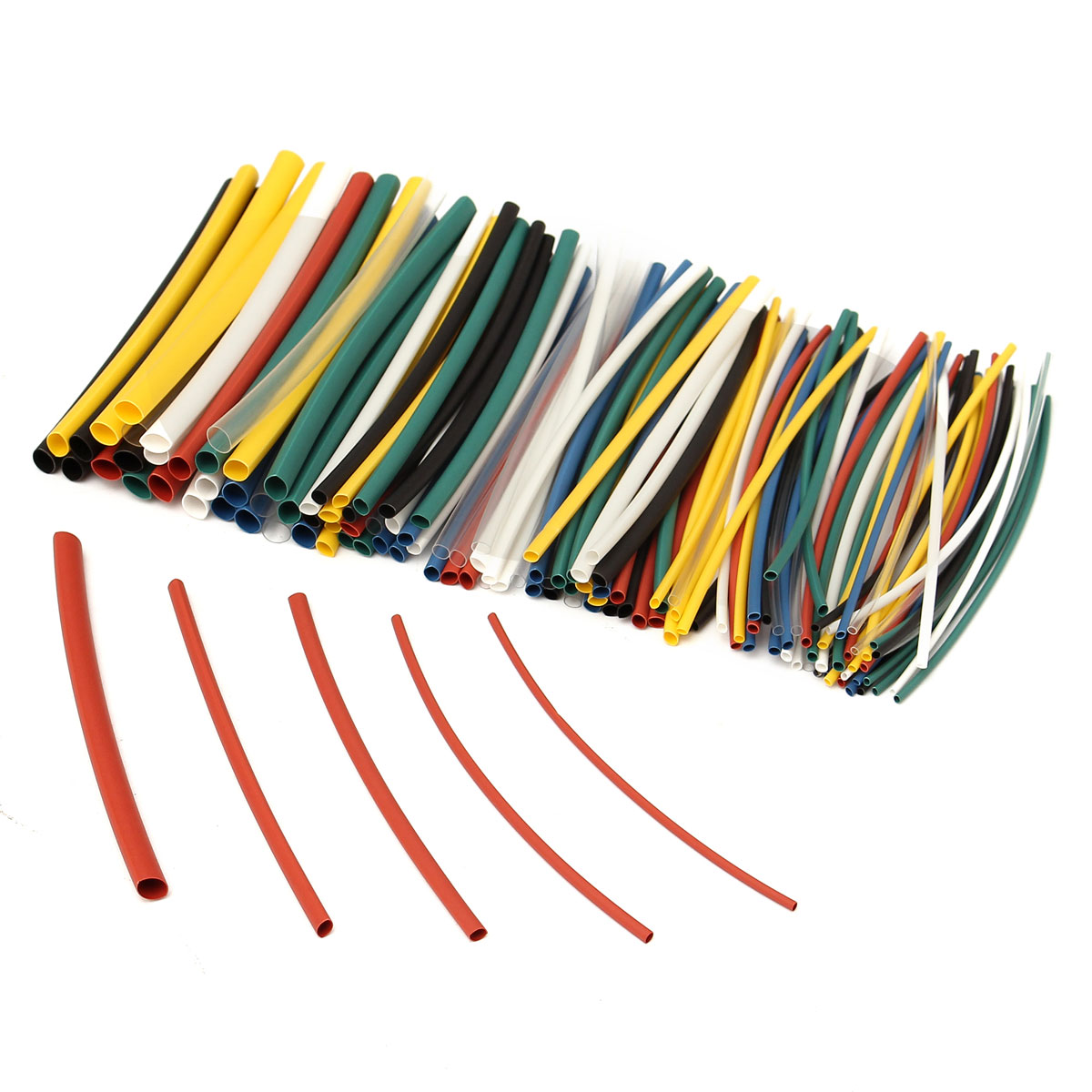 Best Promotion 140pcs/lot 7colors Assortment 2:1 Heat Shrink Tube Tubing Sleeving Wire Cable Kit High Quality недорого