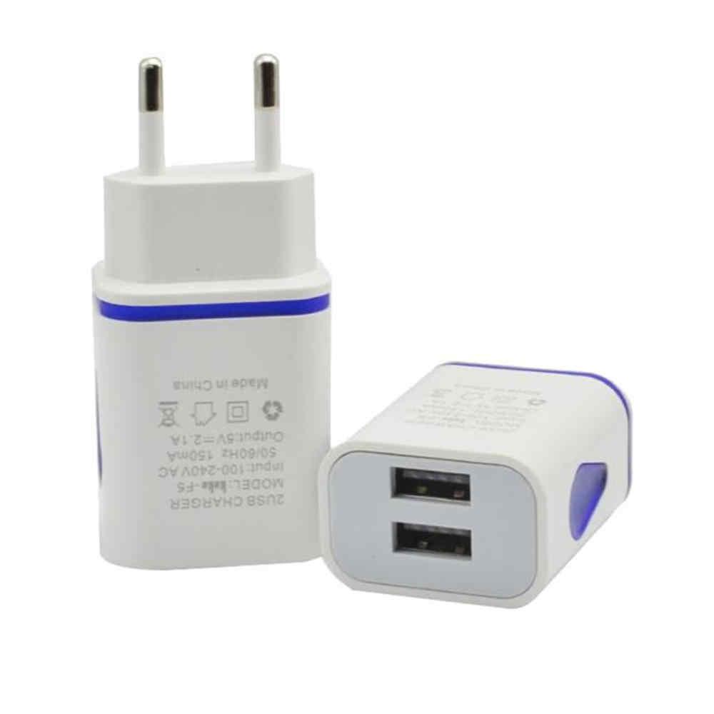 EPULA LED de moda Puerto USB 2 de pared de CASA DE VIAJE AC adaptador de cargador de teléfono móvil para S7 enchufe de la UE para MP3 los jugadores