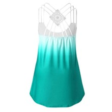 2019 Tshirt women Plus Size Fashion tshirt Sleeveless U Neck Floral Printing Casual Lace Vest T-Shirt