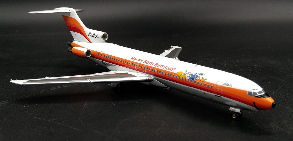 Fine Special offer BBOX 1: 200 United States PSA aviation B727-200 N555PS 50th Alloy aircraft model Collection model Holiday fine special offer jc wings 1 200 xx2457 portuguese air b737 300 algarve alloy aircraft model collection model holiday gifts