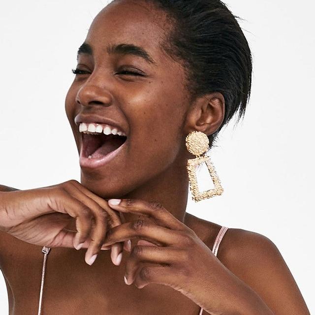 Оптовая продажа женские массивные серьги naomy & zp модные геометрические