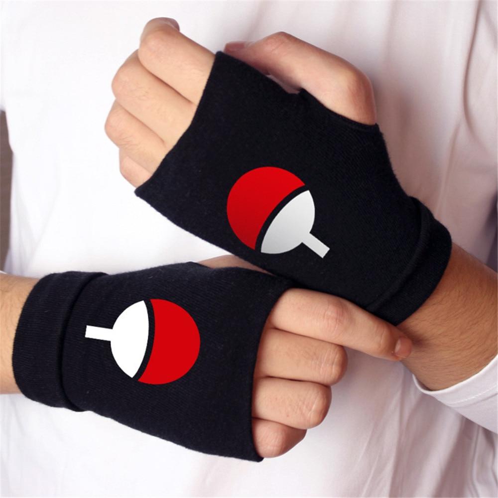 Men Women Fashion Gloves Anime One Piece Naruto Fate/stay night-Finger-less Cotton Luminous Glove Cosplay Mitten Xms