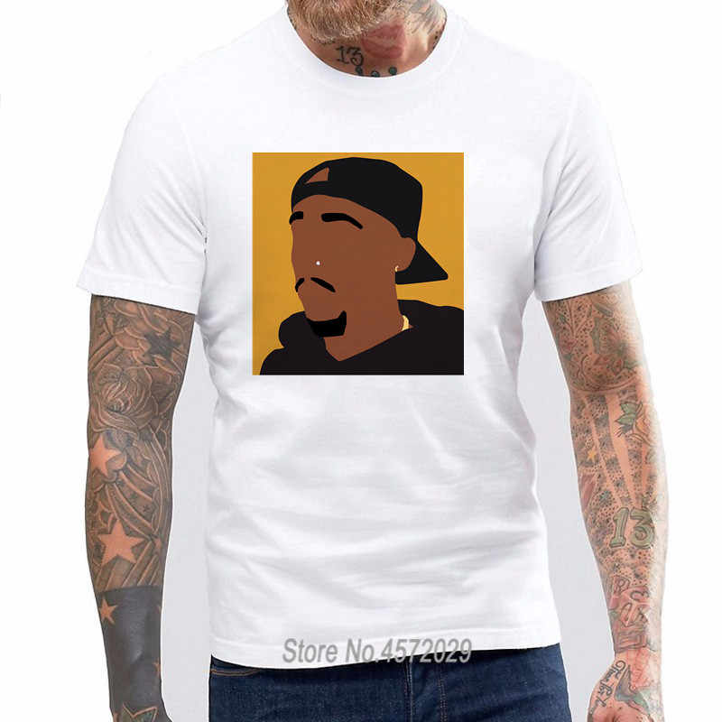 4603f6c4a Fashion casual streetwear 2pac 1971-1996 Black Graphic Print T Shirt Short  Sleeves Polyester Tops