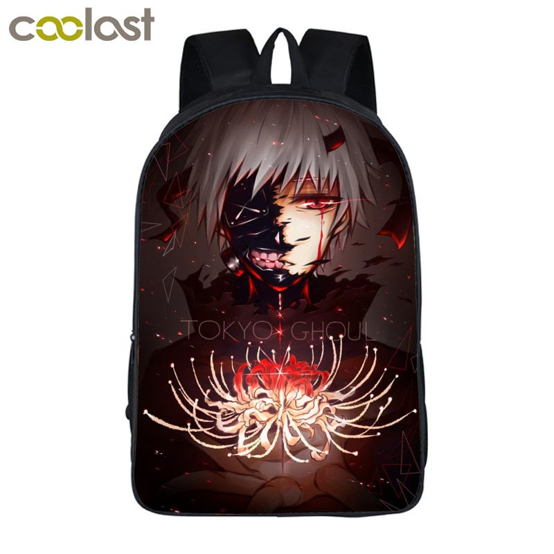 Anime Tokyo Ghoul Backpack For Teenage Girls Boys Children School Bags Cartoon Tokyo Ghoul Kaneki Ken Bag Kids School Backpacks anime cartoon tokyo ghoul cosplay backpack schoolbag one piece gintama school bag rucksack men s women s naruto travel bag
