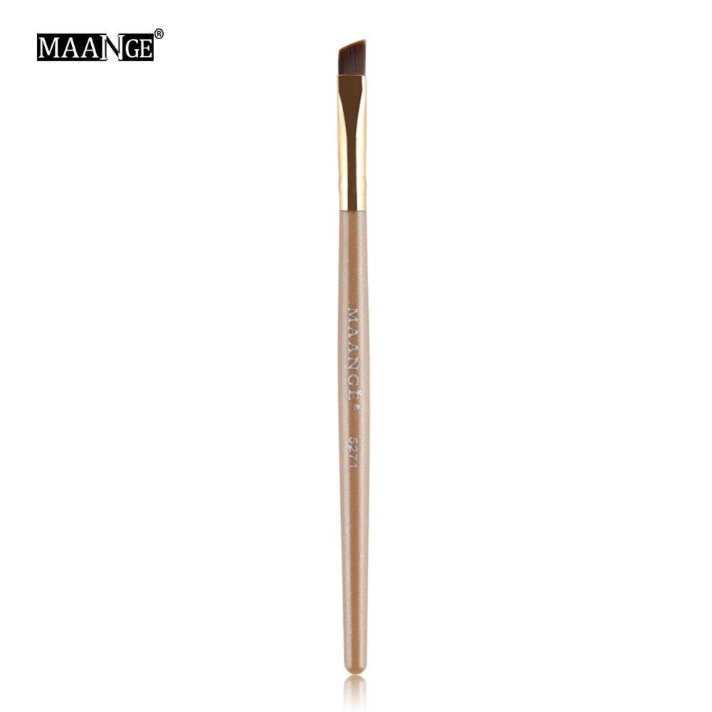 1Pcs Soft Angled Flat Tops Eye Makeup Brush For Party Salon Eyebrow Eyeshadow EyeLiner Powder Cosmetic Coating Applying Tool лосьон avene авен очищающий мицеллярный лосьон флакон 400 мл
