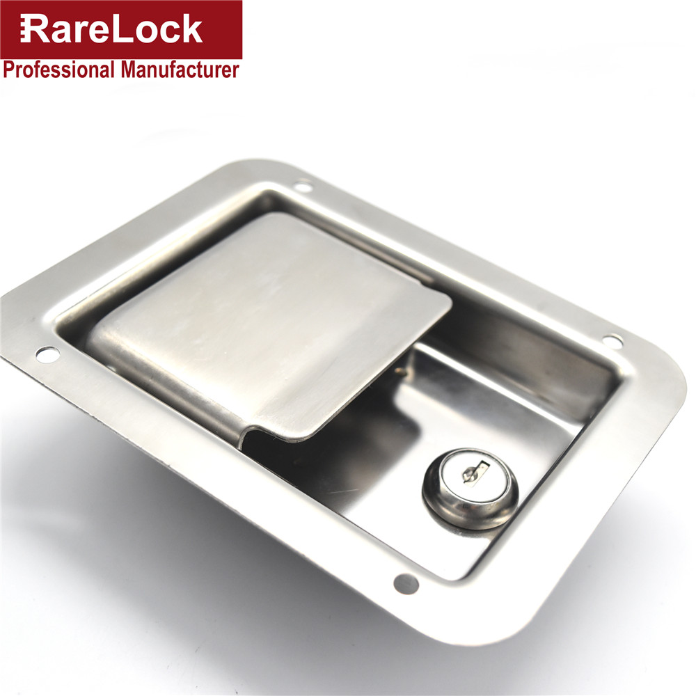 Rarelock Bus Truck Lock Stainless Steel Pickup Accessories Bus,Truck Door Handle Lock 140mm*108mm Cerradura e top quality 304 stainless steel interior door lock big 50 small 50 series bedroom door anti insert handle lock
