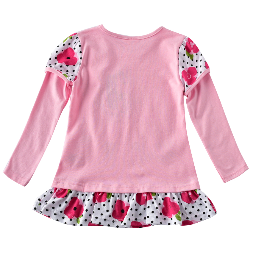 Girls long sleeved embroidered dress new autumn cotton girls children long sleeved dress for children to wear clothes F7135 in Dresses from Mother Kids