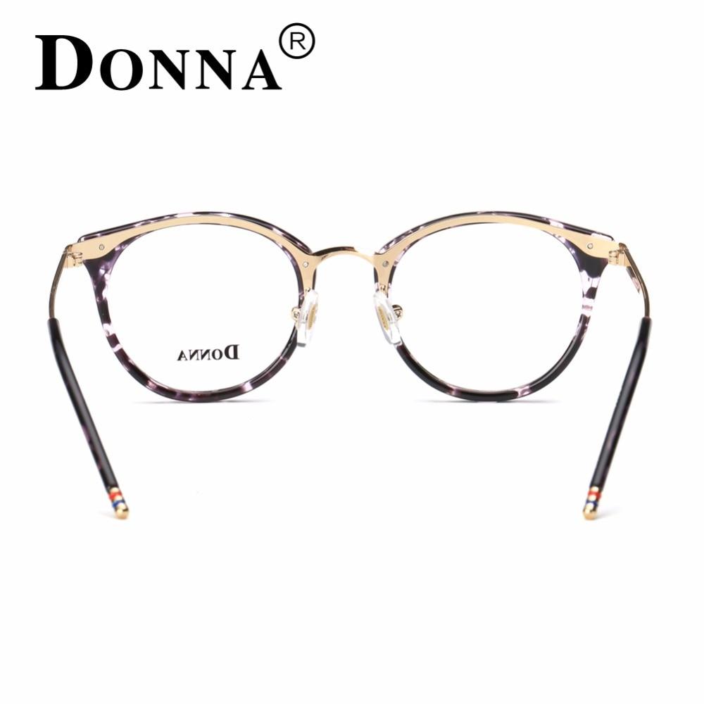 Donna Moda Gafas de Lectura Marcos de Los Vidrios Ópticos Gafas ...