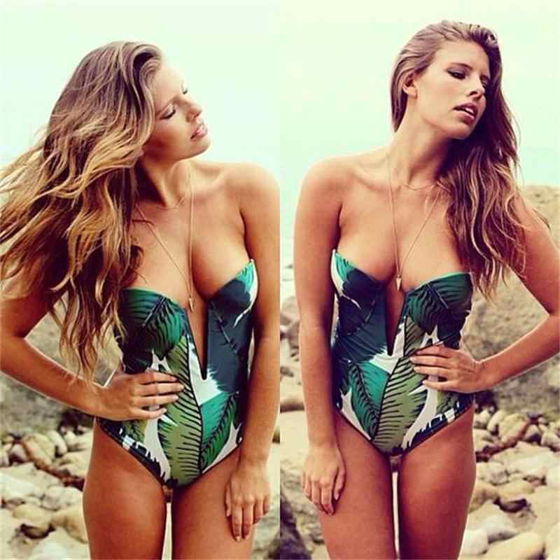 new swimsuit female foreign trade hot sexy female system V collar wrapped  chest Agent Provocateur conjoined 45553528f
