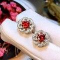 Designer de Moda 925 Sterling Silver Jewelry Platinadas 3A Cubic Zirconia Festa Brinco