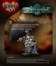Avatars of War dwarf champion krigare