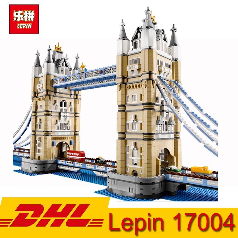 (In Azione) lepin 17004 4295 pcs City Street View Internazionale London Bridge Modello di Blocchi di Costruzione Del Giocattolo Compatibile LegoING 10214
