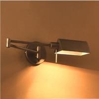 Гладить сельских промышленных настенный светильник складной бра Ретро длинные руки перекидной настенный светильник Ночной свет промышлен