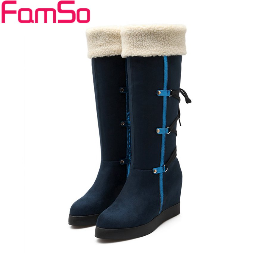 Free shipping 2016 NEW Arrival font b Women b font Boots Wedges Shoes Autumn High Quality