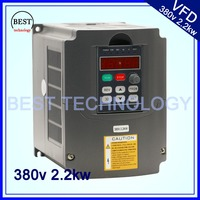 2.2kw VFD 380v Variable Frequency Drive VFD Inverter 3HP Input 3HP frequency inverter for spindle motor speed control