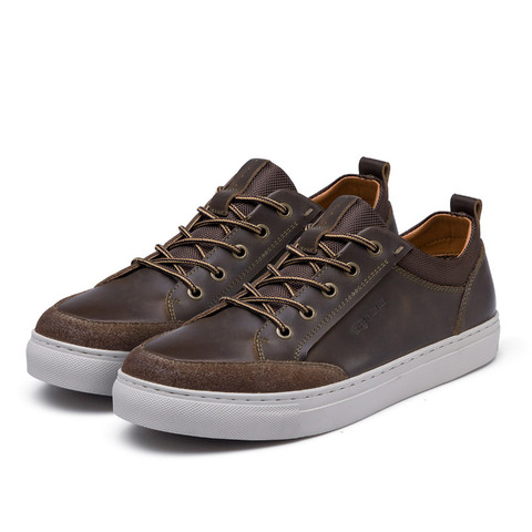 SERENE Brand Cow Leather Men Shoes High Quality Casual Lace-up Shoes Breathable Footwear Man Suede Shoes Retro Leisure Sneakers Multan