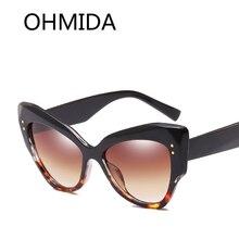 9aadba1dadd OHMIDA Fashionalbe Cat Eye Sunglasses Brands Cheap Women s Sunglasses Best  Shades Gradient Designer Sun Glasses For