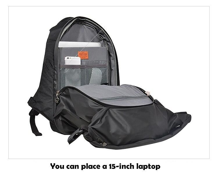 RUIL 2017 водонепроницаемый рюкзак высокой емкости, мужской рюкзак для путешествий, Прочный Модный школьный рюкзак для ноутбука, вместительная сумка для компьютера - 6