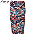 Neophil 2017 Summer Bohemian Bobo Ethinic Floral Print Midi Pencil Skirts Slim High Waist Bodycon Wrap Office Casual Saia S1231
