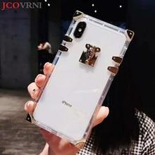 JCOVRNI Стильный Личность прозрачный ТПУ мягкий чехол для iphone XR XS XSMAX 7 plus 8 плюс полностью защищенный мобильный телефон назад cove