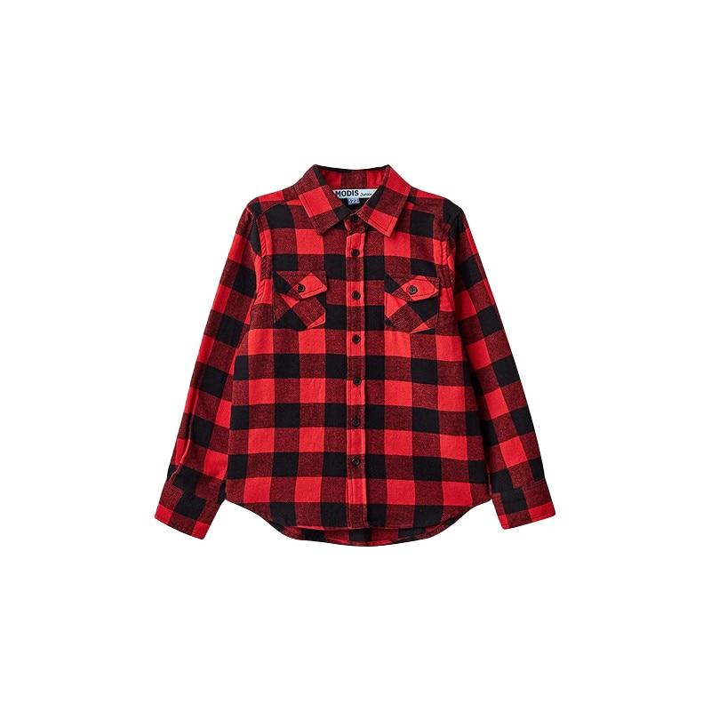 Blouses & Shirts MODIS M182K00218 for boys kids clothes children clothes TmallFS kids clothes sets for girls turn down collar blouses