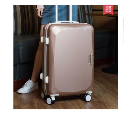 ABS+ PC Brand Women 202426 Inch Travel Luggage Trolley suitcase Boarding Case Rolling Case On Wheels With Cosmetic Bag Women