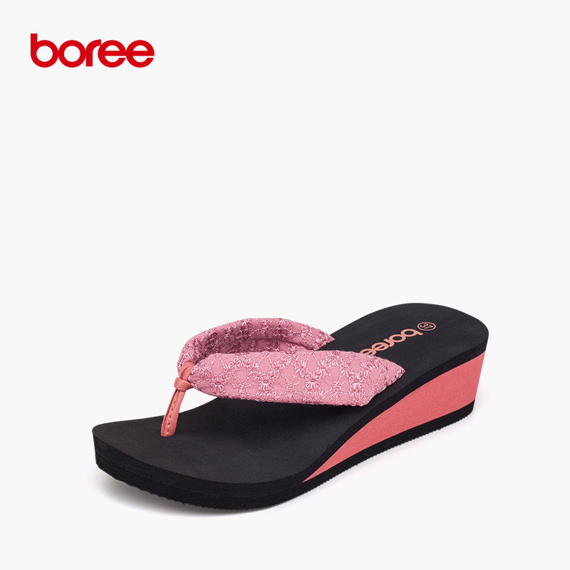 Boree Nuova Spiaggia di Estate di Modo delle Donne Infradito Scarpe Sandalo  Casuali Solido Tela Flatform Pantofole Lace Style 4 Colori 58006 c057afc9538