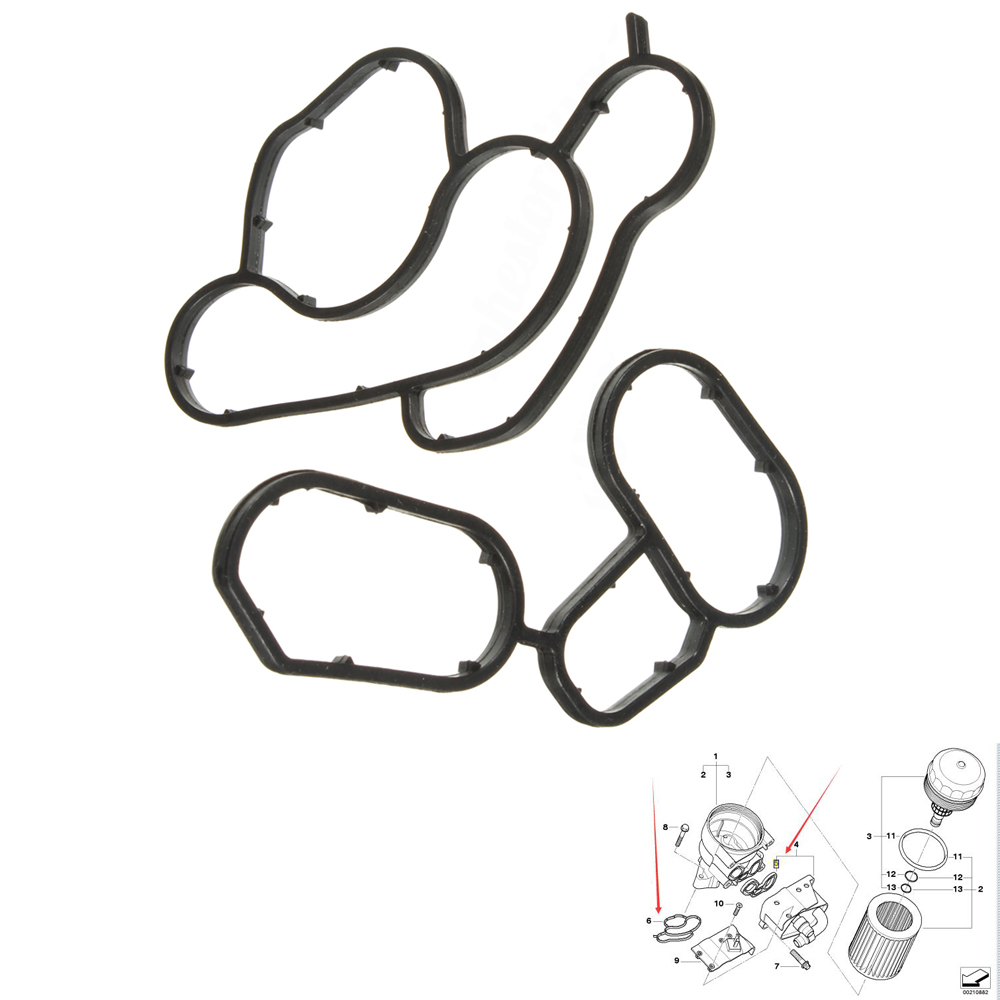 Engine Oil Filter Housing Gasket Seal Fit For BMW E90 E46