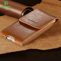 FLOVEME Luxury Genuine Leather Cases For IPhone 6 Plus 6S Plus Full Protective Case With Clip