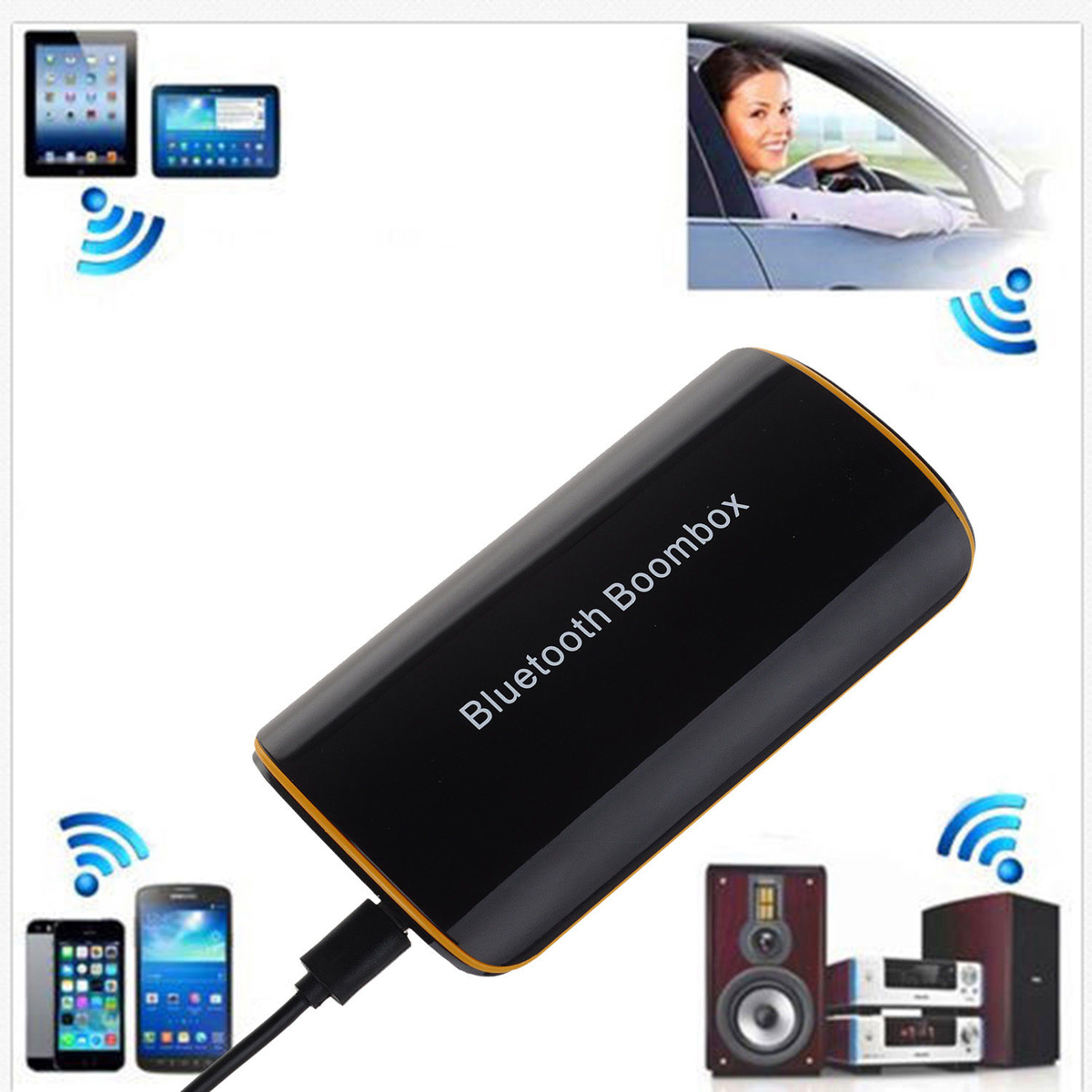 Wireless Bluetooth 41 Audio Stereo Music Receiver Home Sound A2dp 35mm Aux H166 Adapter In Speakers From Consumer Electronics