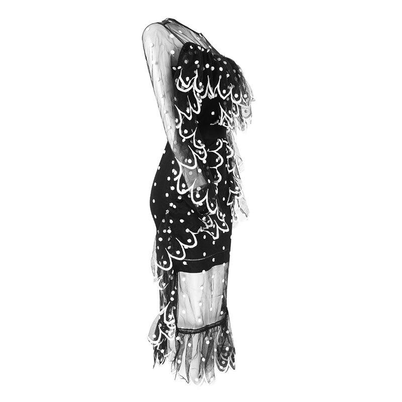 Moulante Femmes Mode En Noir Designer Robe Nouvelle Parti Élégant Gros Sexy Transparent 2018 wrwta0q