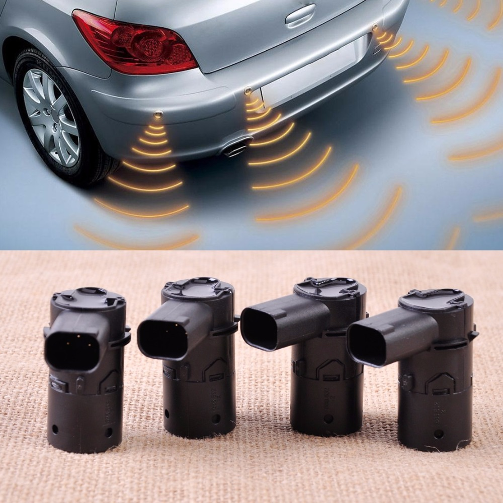 CITALL 4pcs PDC Parking Sensor Fit for Volvo S80 S60 V70 XC70 C70 V50 S40 XC90 30765108 30668100 30668099 5267042 car computer screen display projector refkecting windshield for volvo c70 s40 s60 s70 s80 s90 v40 v70 v90 xc70 driving screen