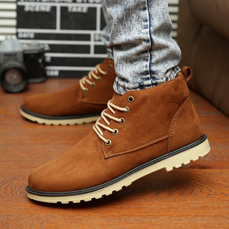 Men'S Shoes Comfortable And Warm Men'S Cotton Shoes Business Casual Shoes Men'S Shoes Winter 39 Brown
