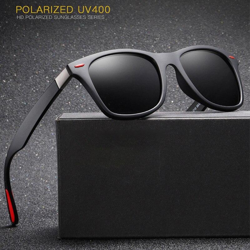 d698778b4e Gafas de sol polarizadas nuevas de los hombres 2019 de marca de diseñador  para hombre pesca conductor Vintage clásico negro gafas de sol Retro espejo  de ...